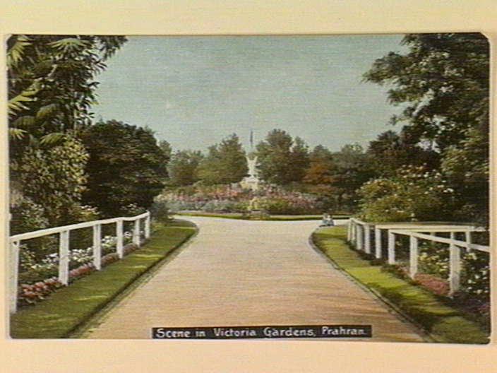 Scene in Victoria Gardens, Prahran. [picture] , State Library of ...