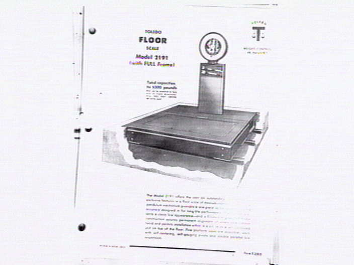Illustration for Toledo Floor scale Model 2191] [picture] , State