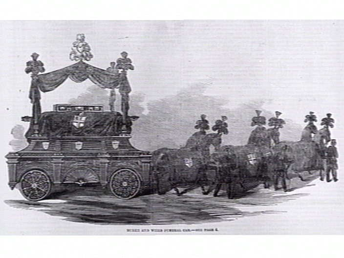Burke and Wills Funeral Car.