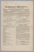 The Melbourne Advertiser, Port Phillip Australia Volume 1 No 10