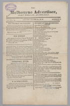 The Melbourne Advertiser, Port Phillip Australia Volume 1 No 11