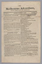 The Melbourne Advertiser, Port Phillip Australia Volume 1 No 12