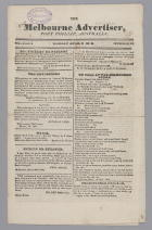 The Melbourne Advertiser, Port Phillip Australia Volume 1 No 15