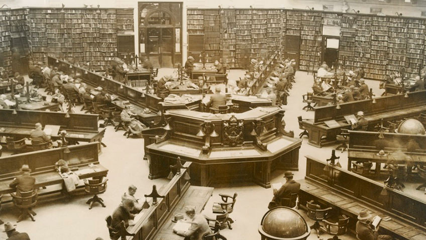 Reading room in the 1940s