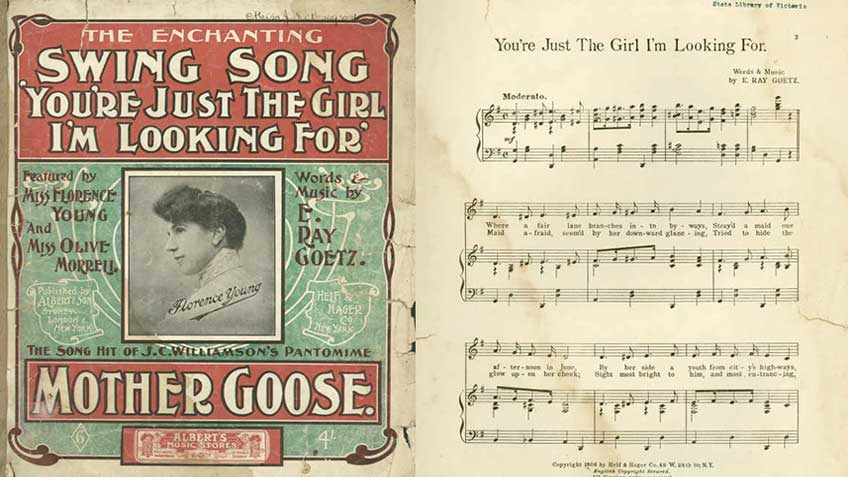 Sheet music for 'You're just the girl I'm looking for'