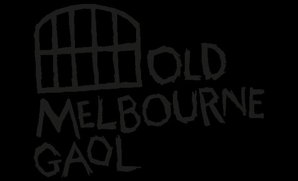 The Old Melbourne Goal logo in black