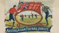 football players on Australian Rules football field
