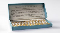 case of small pharmacy vials