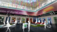 olour photo of artists impression of redeveloped Digital Centre at State Library Victoria