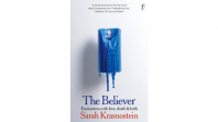 Book cover with blue candle on a white background