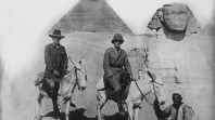 Australian officers on donkeys in Egypt during World War I