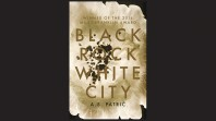 Sepia book cover against black background with the words Black rock white city