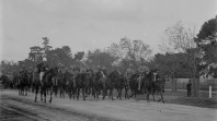 Parade of Boer War soldiers in Melbourne, 28 April 1900