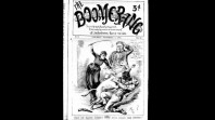 1889 cover of satirical journal 'The Boomerang'