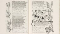 Pages from 'The Canterbury tales', wood engravings by Eric Gill, wood engraving