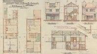 Plans for an Elwood chemist shop, 1917