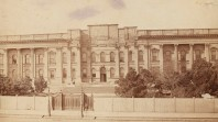 sepia photo of State Library before the portico was added