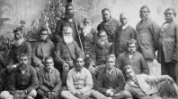 Aboriginal men of high degree at Coranderrk Station, Healesville