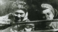 Kitia Altman and another woman, both Holocaust survivors