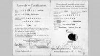 Identity card for Waclav Jablonski on liberation