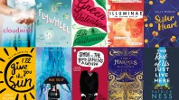 Collage of book covers of the winners