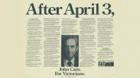 1982 election poster for a John Cain ALP government