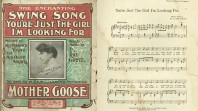Sheet music for 'You're just the girl I'm looking for', from 'Mother goose', 1906