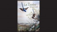 La Trobe Journal issue 93–94 title page featuring a flying blue wren with its nesting partner