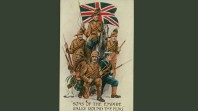 Patriotric postcard, probably from the Boer War