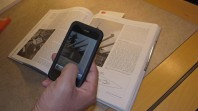 Using a smart phone to copy from a book