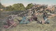 Postcard depicting Aboriginal people at their camp, c 1909
