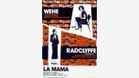 Poster promoting the plays 'Wehe' and 'Radclyffe…the well of…'