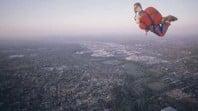 Action man skydiver hot-air balloon, photo by Regis Martin, 1999