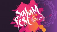 purple background with pink and orange burst of colour with SalamFest 2017 in white cursive script
