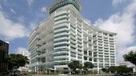colour photo of modern white multistorey building
