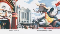 Painting of iconic St Kilda, Melbourne, locations like Luna Park and Palace Theatre
