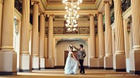 Photo of a couple dancing in Queens Hall
