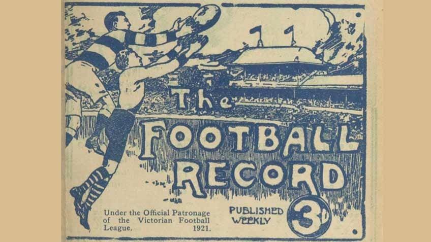 AFL record 1921 Round 1