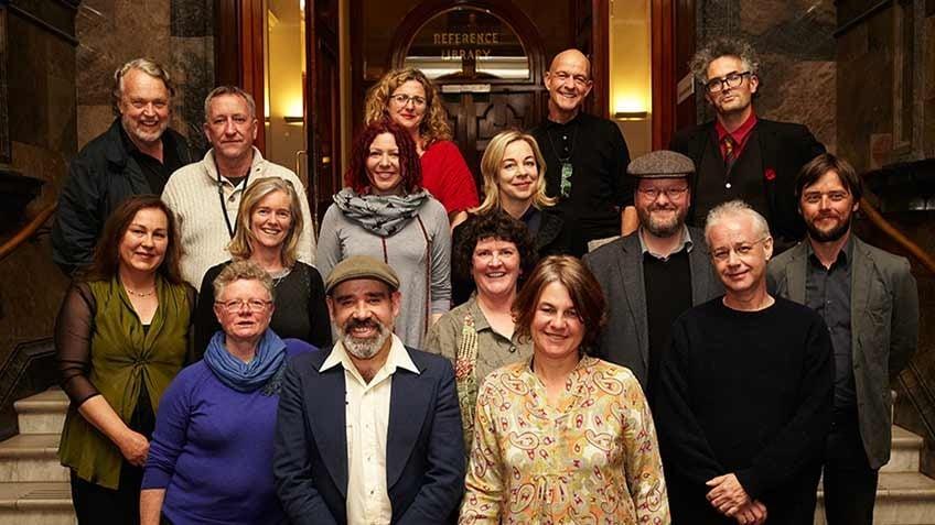 Group photo of 2013 Creative Fellowship recipients