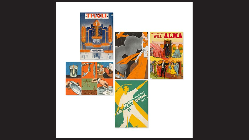 Art deco images of travel, fashion, sport and entertainment