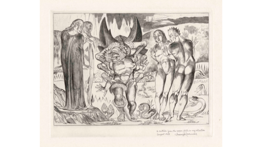 William Blake, The circle of the thieves