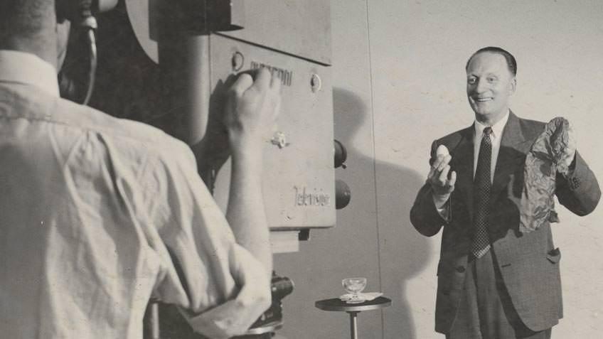 Magician Will Alma on television, 1953