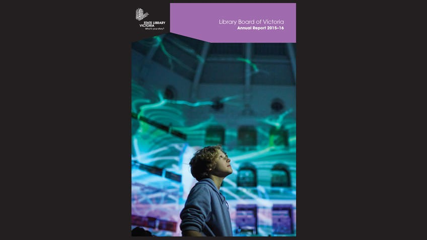 Cover of the Annual Report 2015-2016