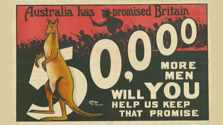World War I enlistment poster