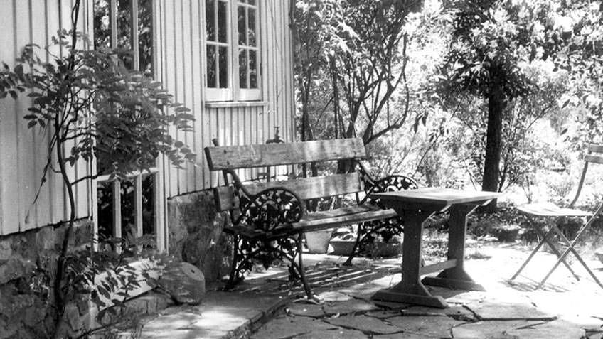 The back door of The Barn, Edna Walling's home in Bickleigh Vale, Mooroolbark
