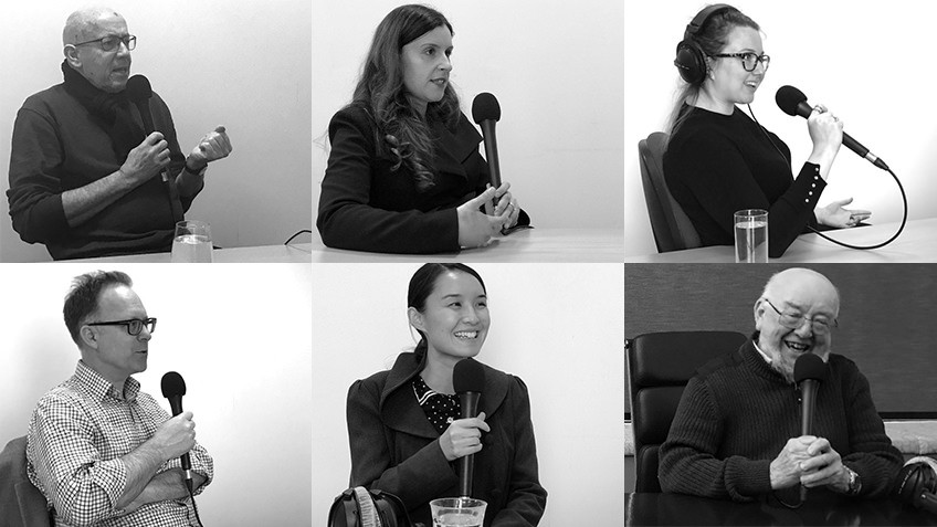 Photos of 6 authors interviewed on The Garret podcast