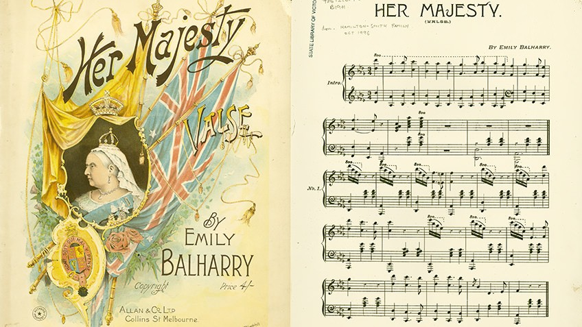 Score for Her majesty, by Emily Balharry, 1905
