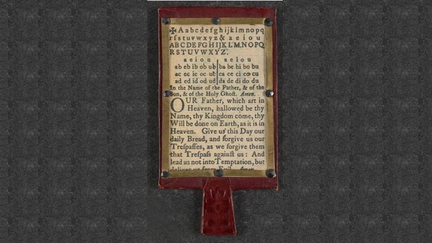 Hornbooks were early alphabet books
