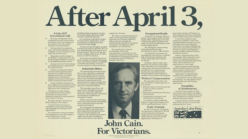 Image result for john cain 1982 election