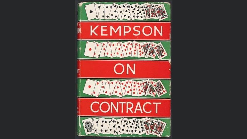 Kempson on contract, by Ewart Kempson, 1935